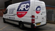 APC Couriers fleet livery